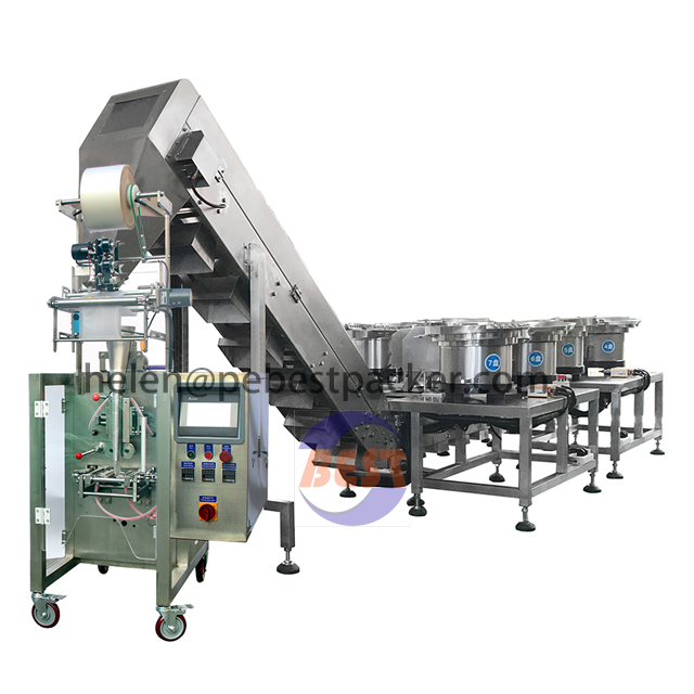 Automatic Smart Counting Bowl Packing system for plastice parts